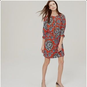 Loft Paisley Shirt Dress